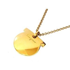 Salvatore Ferragamo Ganchini Necklace Gold 0394 Unisex