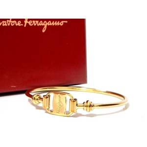 Salvatore Ferragamo Gold Bracelet Vintage 0225 Unisex
