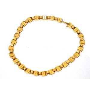Salvatore Ferragamo Gold Chain Necklace Choker 0228 Unisex