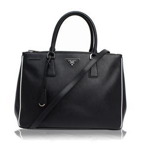 Prada 1BA274 Women's  Handbag Black,White