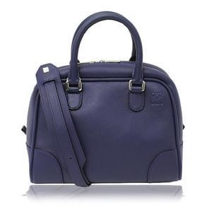 Loewe Amassona 75 301.30 Bl01 Calfskin Navy 2 Way Handbag Shoulder Bag Women's Ladies