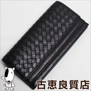 Bottega Veneta Double Fold Wallet 143305 V0013 Twin Hook Black