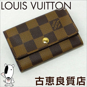 Lv Lv Louis Vuitton N 62630 6 Key Case Damier Mercy