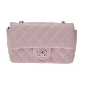 シャネル(Chanel) マトラッセ レディース キャビアスキン ショルダーバッグ ライトピンク