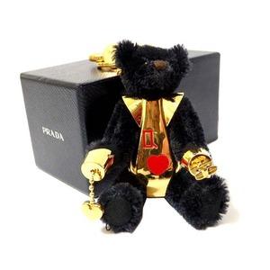Prada Bear - Keychain Black Gold 0351 Unisex