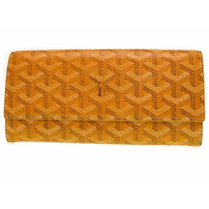 Goyar Varenne Herringbone Folding Wallet Yellow 0348 Goyard