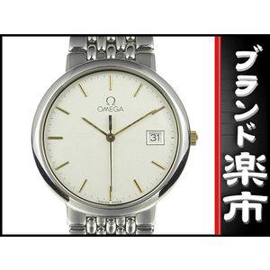 Omega Devil Date Mens Quartz Watch Silver Dial
