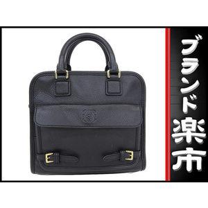 Loewe Leather 2 Way Hand Shoulder Bag Black