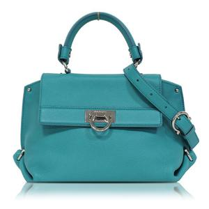 Salvatore Ferragamo Ferragamo 2 Way Handbag Green Series Shoulder Bag Women's