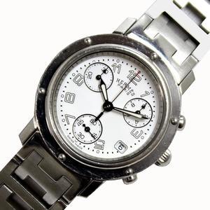 エルメス HERMES  クリッパー クロノグラフ  CL1.310 クォーツ ホワイト レディース 腕時計