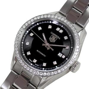 タグホイヤー TAG HEUER  カレラ  WV2412 自動巻き ブラック ダイヤベゼル レディース 腕時計