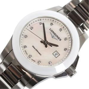 ロンジン LONGINES  コンクエスト  L3.257.4 クォーツ シェル ダイヤ レディース 腕時計