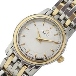 Omega Devil Prestige Quartz K18ss Silver Ladies Watch