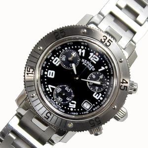 エルメス HERMES  クリッパーダイバー クロノグラフ  CL2.310 クォーツ ブラック メンズ レディース 腕時計