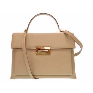 Salvatore Ferragamo Ferragamo Leather 2way Shoulder Handbag Ee-21 9332 Beige 0109 Salvatore
