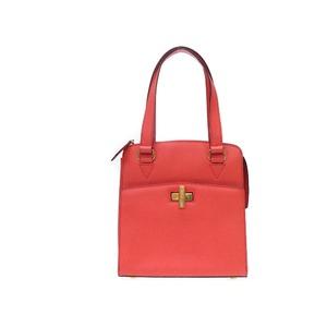 Celine Leather Handbag Orange Vintage 0008