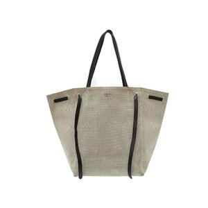 Celine Cuban Phantom Tote Bag Canvas / Leather Gray 0508