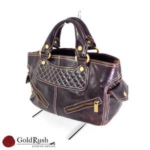 Celine Brown Boogie Bag Ce00 / 24 Handbag Gold Hardware Women's