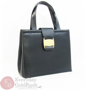 Salvatore Ferragamo Ferragamo Handbag Black Vara Leather Womens