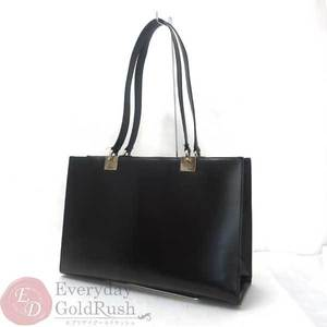 Salvatore Ferragamo Ferragamo Leather Tote Bag Bp-21 Black