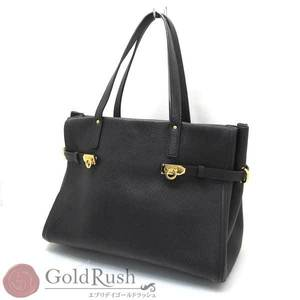Salvatore Ferragamo Tote Bag Gu-21f074 Beautiful Item Black