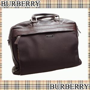バーバリー(Burberry) 中古★おすすめ バーバリー ビジネスバッグ ボストン レザー【sa】