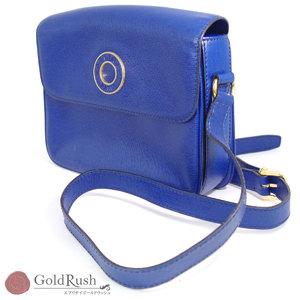 Celine Blue Vintage Logo Circle Shoulder Bag Women's