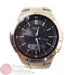 特価  CASIO カシオ LINEAGE リニエージ LCW-M160TD-1AJF メンズ 腕時計 ブラック タフソーラー 電波 アナデジ 【kk】【中古】