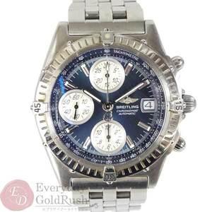 ブライトリング BREITLING クロノマット メンズ 腕時計 オートマ A13350 青文字盤 sa el【中古】