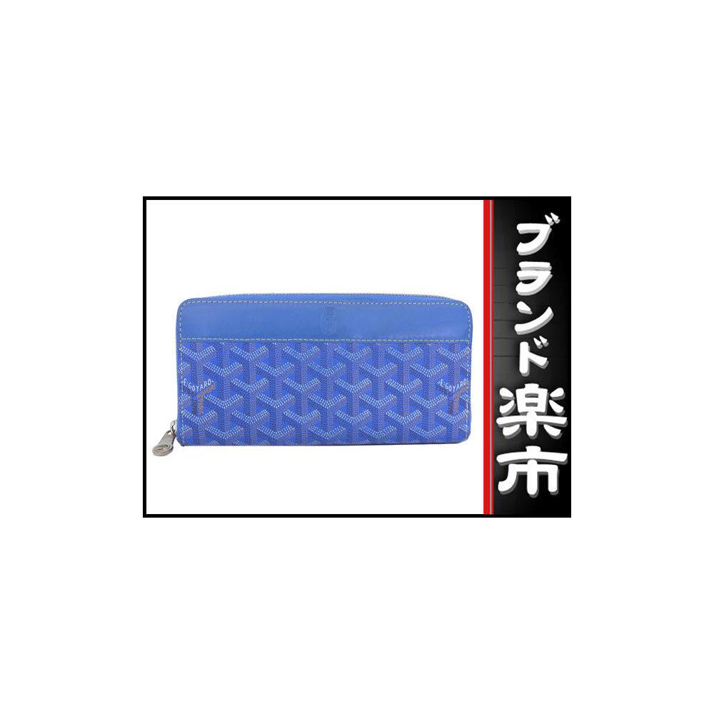 Goyard Goyar Round Zipper Long Wallet Blue Order Color