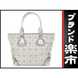 Celine Celine Handbag Horse-drawn Carriage Pvc Leather Gray Silver Bag