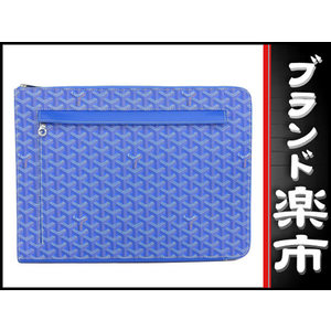 Goyard Goyar Sorbonne Clutch Bag Document Case Blue