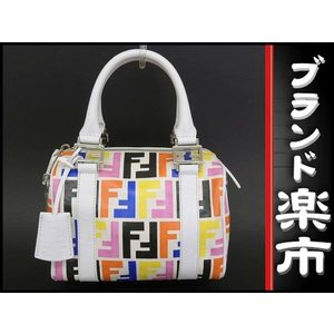 Fendi Fendi Mini Boston Bag Multi Color Zucca