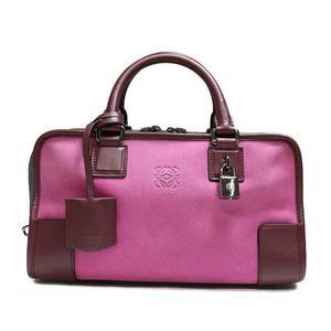Loewe Amassona 28 352.61 Ha 03 Pink × Bordeaux Gray Handbag Women's Bag