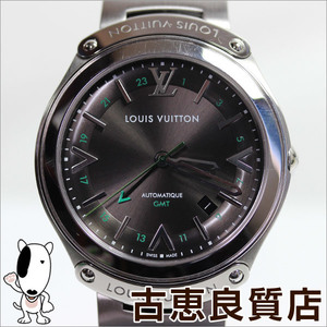 Louis Vuitton (Louis Vuitton) Q6d300 Fifty Five Gmt Anthracite Ss Gray Men's Watch Automatic Winding