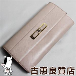 Salvatore Ferragamo Salvatore Ganchini Folding Wallet 22 - C 127 Pink Beige × Gold Hardware