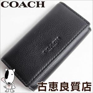 Coach Coach Cross Grain Leather Quadrant Key Case F63645