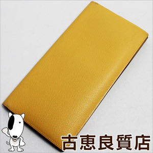 Hermes Hermes Mc2 Mendel Long Wallet Epson Foldable □ M Vaud Yellow