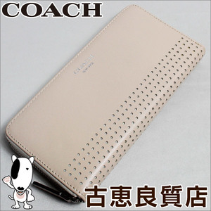 Coach Wallet Legacy Perfoled Leather 48958 Round Zipper Long Purse