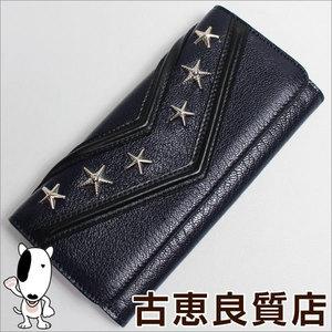 Jimmy Choo Wallet Fold Nino Lmj / 040014 Navy