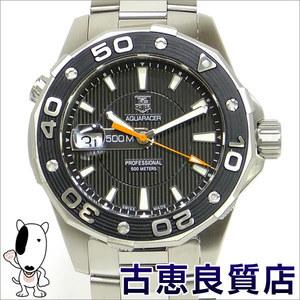 Tag Heuer Aqua Racer 500 M Men's Black Wrist Watch Quartz Waj 1110.ba 0871