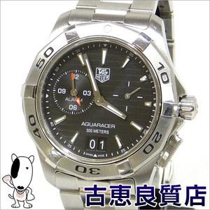 Tag Heuer Aqua Racer Grand Day Date Alarm Men's Watch Quartz Wap 111 Z.ba 0831
