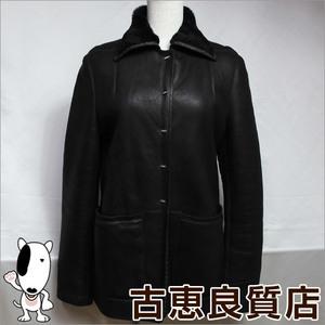 Fendi Ladies Leather Half Coat Italian Made Dark Brown 42 Outer Jacket