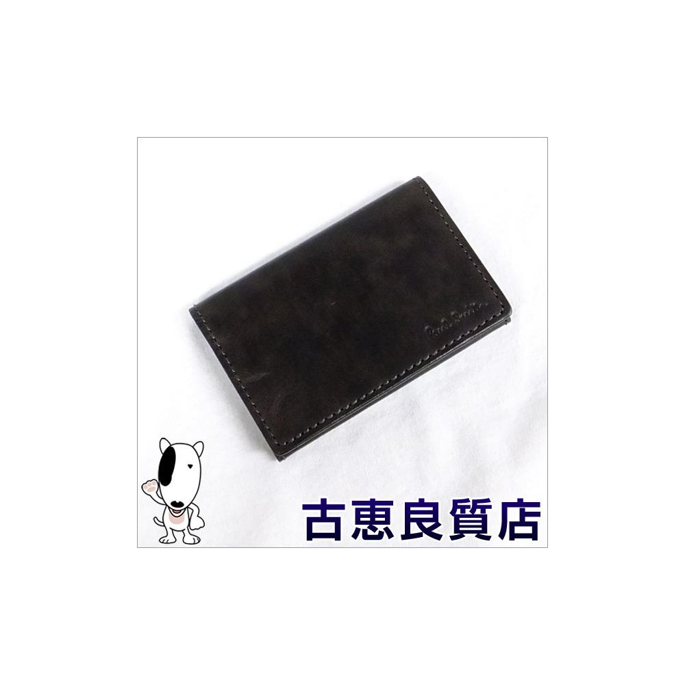 eLADY GLOBAZONE | Paul Smith Leather Business Card Holder Case Dark ...