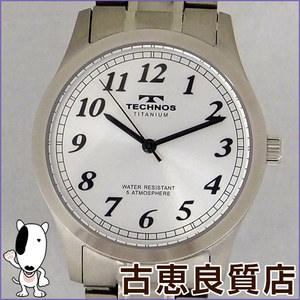 Technos Mens Watch Wristwatch 5 Atm Water Resistant Qz Quartz Silver Dial Plate Tsm905is
