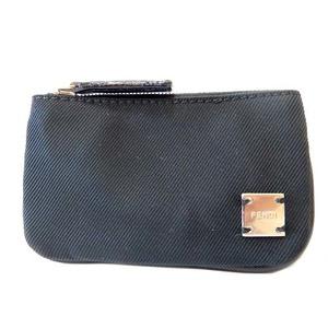 Fendi Nylon Coin Case Key Holder Black 0044