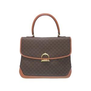 Celine Pigeon Handbag Pvc Leather Brown Bag Women's 0437