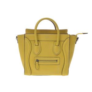Celine Luggage Nano Shopper Calf Yellow Bag