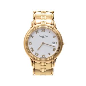 Christian Dior Dior Quartz Watch Gp White Dial Christian Wrist