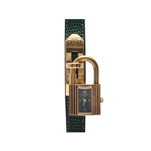 Hermes (Hermes) Kelly Watch Gp Leather Quartz Clock Watches